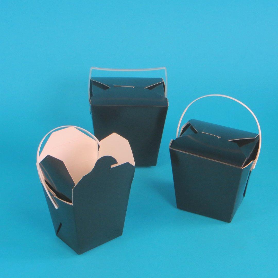 Foodboxen schwarz mit Henkel 450St. versch. Größen