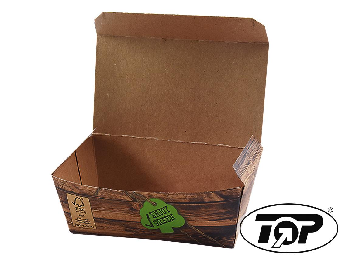 "Bio Snackbox klein 124x65x50mm ""Enjoy Green"" FSC 600St"