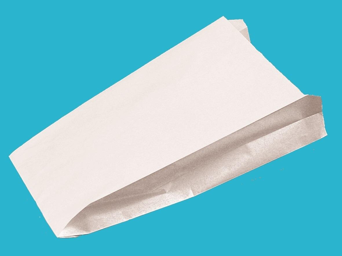 Warmhaltebeutel 3lg 1/2 weiß ohne Druck 10,5+6x24cm 1000St