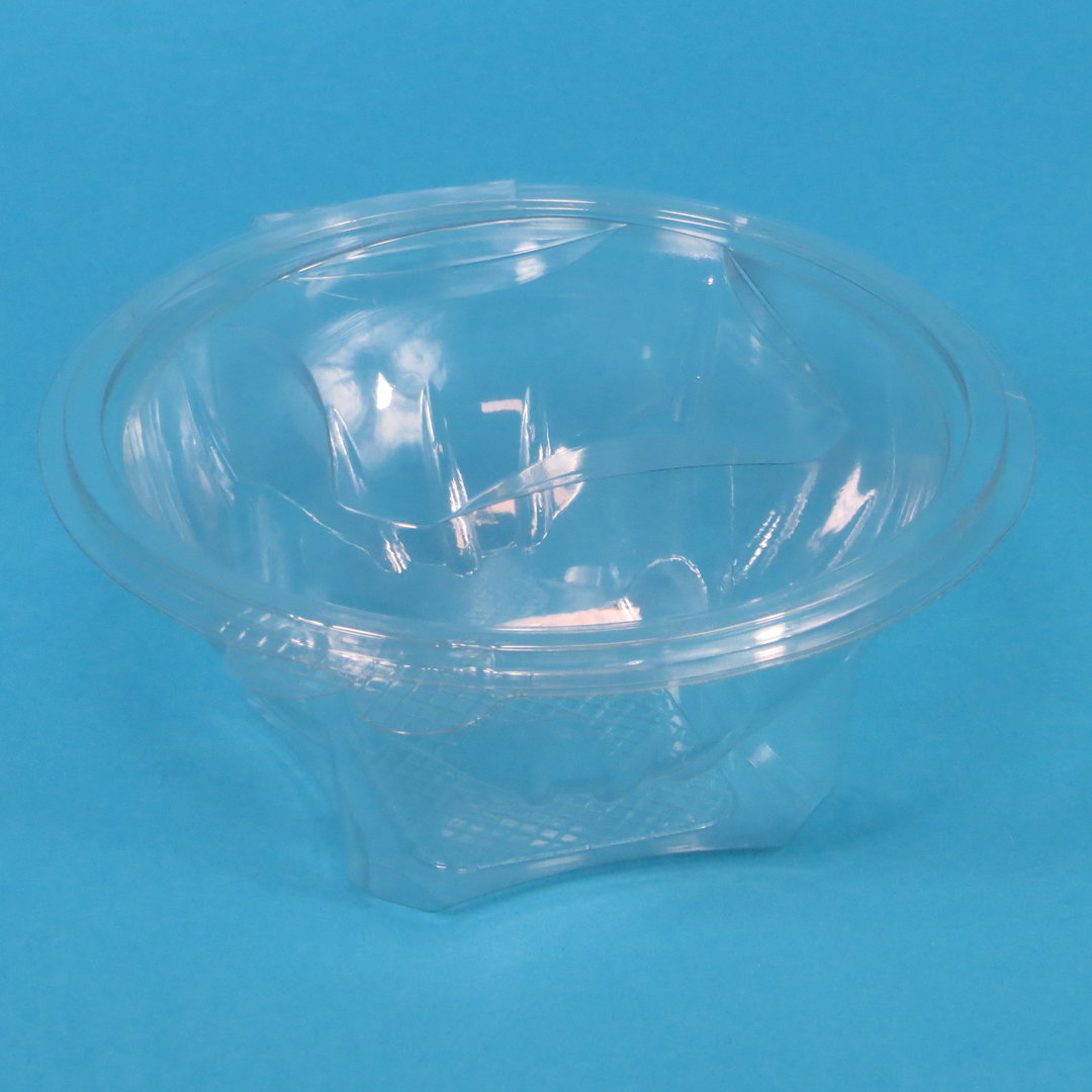 Salatbox m. abreißbaren Deckel klar rund PET versch. Größen