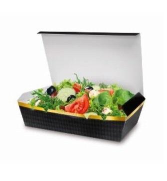 "Snack Faltbox Chickenbox XL 180x120x50mm ""Black Line"" 400St"