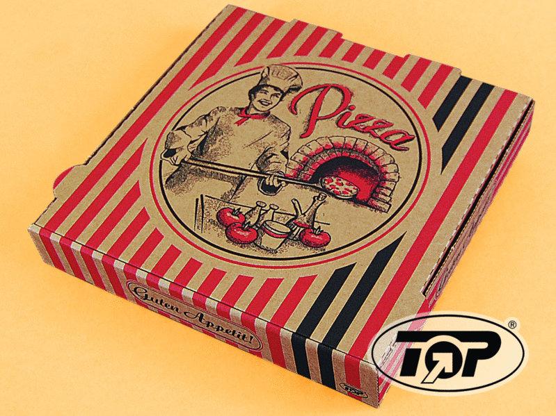 Pizzakarton 4,2cm hoch braun Neutraldruck 100St versch Größen
