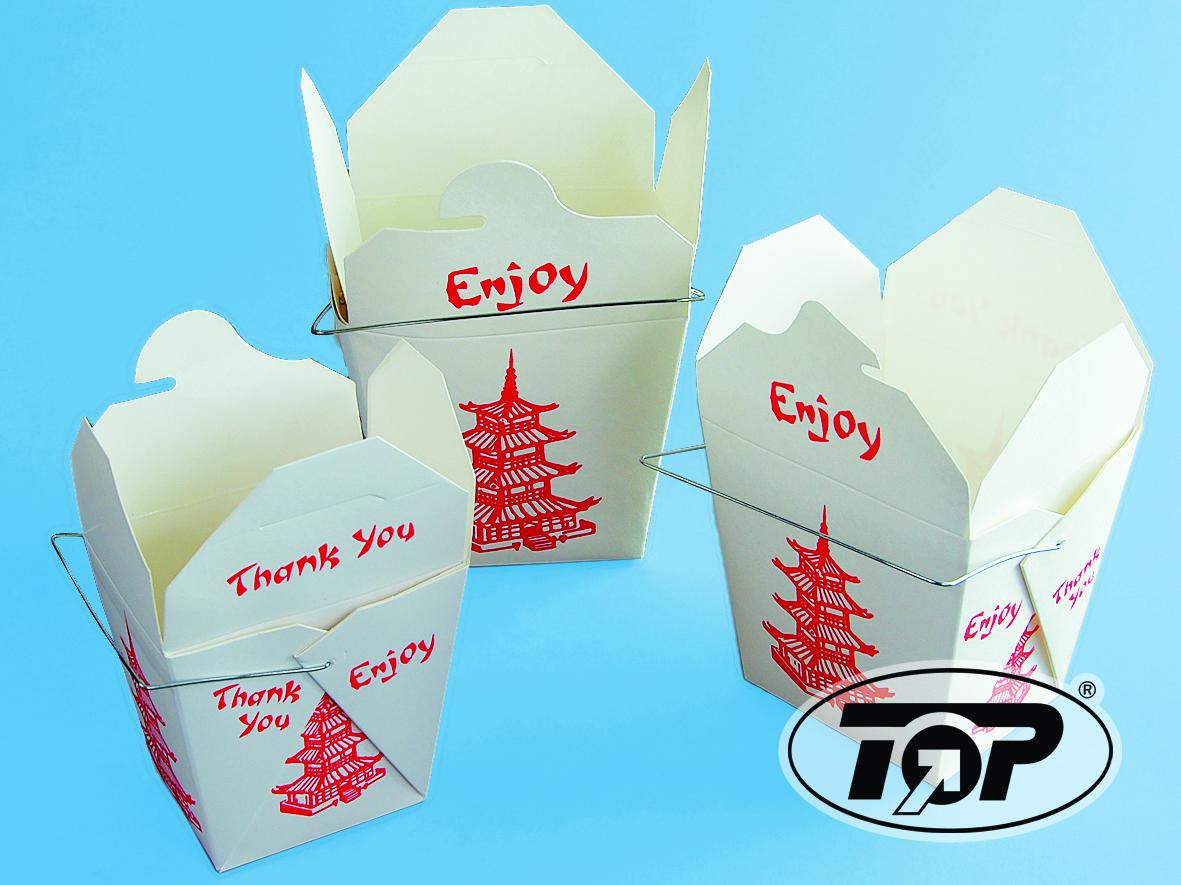 FoldPak Asia Snackbox mit Henkel 16oz 500ml 500St