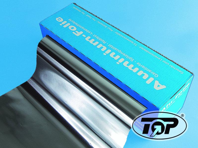 Aluminiumfolie im Spenderkarton 45cm 150m 11my 4 Rollen