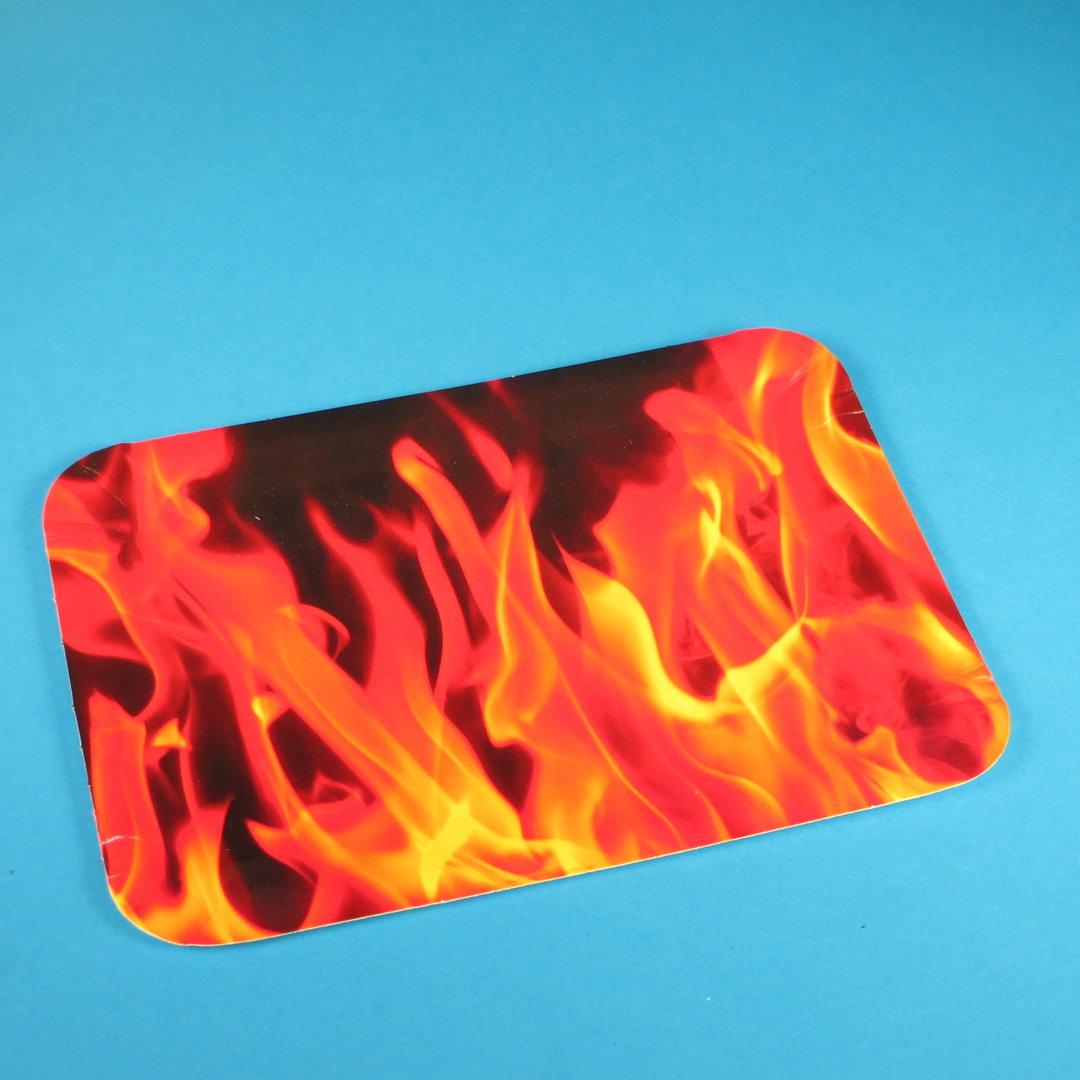 """Pappteller PREMIUM beschichtet """"Hot Fire"""" 24x17cm 250St."""