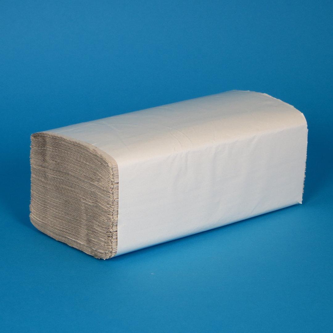 Papierhandtücher natur 25x23cm 1-lg Z-Falz 5000St