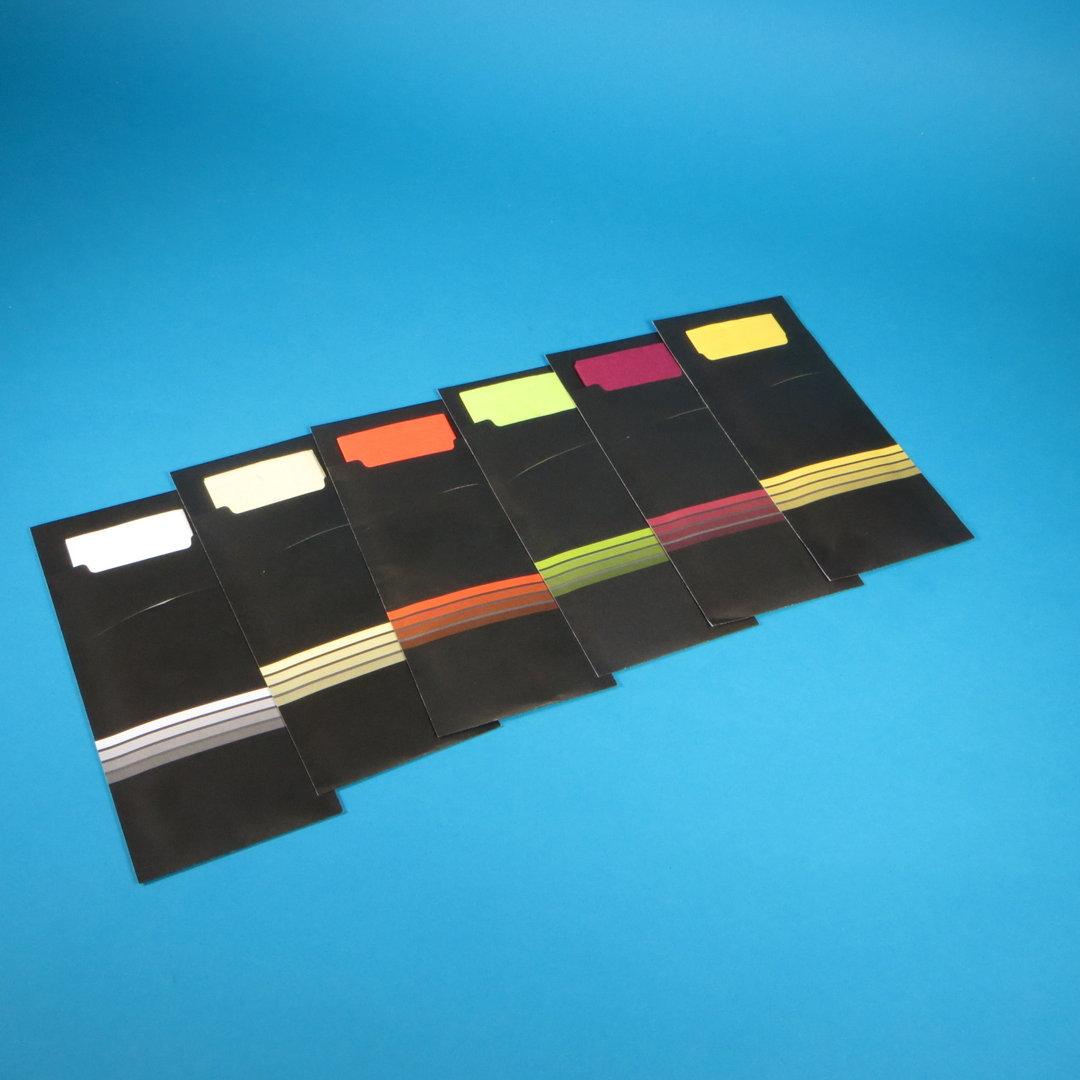 Bestecktaschen 200x85mm schwarz m. Serviette versch. Farben 520St