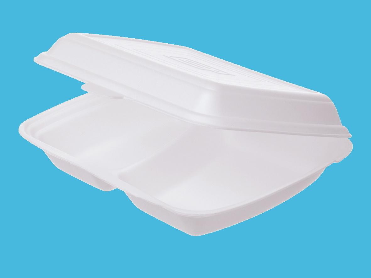 Menüboxen Premium XPS laminiert 2-geteilt weiß 24,5x21x7,2cm 200St