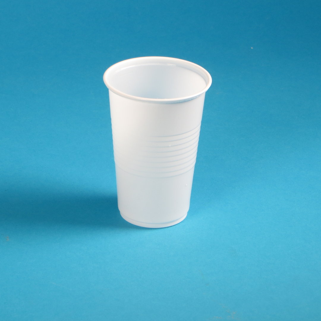 Kunststoff Trinkbecher 200ml weiß PP 3.000St