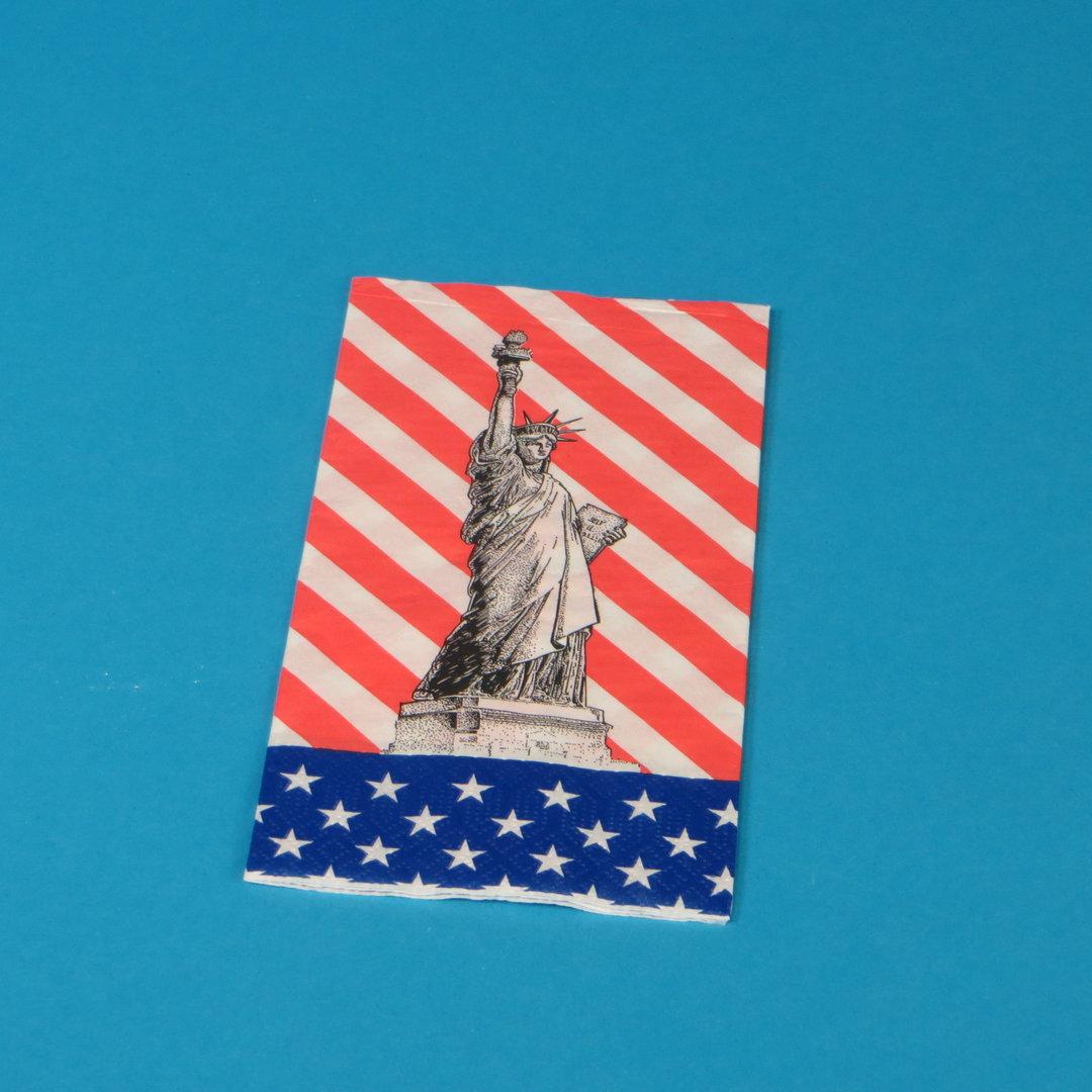 """Tissue Serviette """"Freiheitsstatue"""" 40x40cm 2lg 1/8 1500St"""