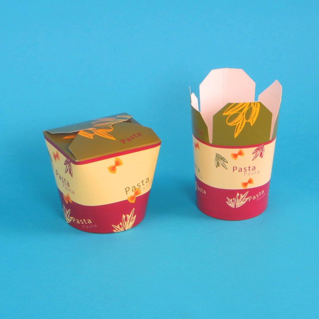 """Foodbox mit """"Pasta"""" Neutraldruck 500St. versch. Größen"""