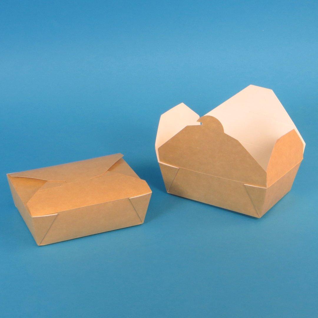 """Bio Foodbox """"Nature"""" braun/weiß Hartpapier versch. Größen"""