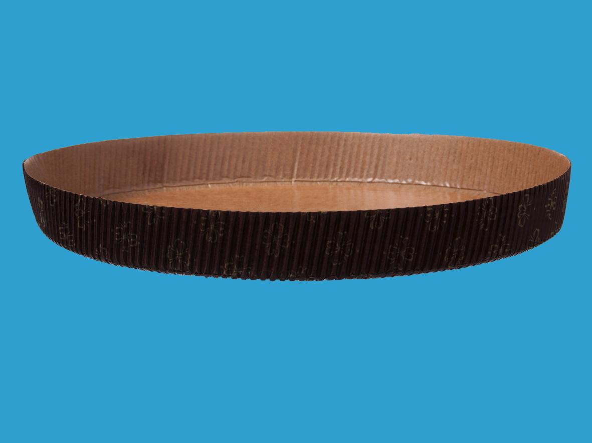 Einwegbackformen Papier rund Ø210mm 25mm hoch 600St