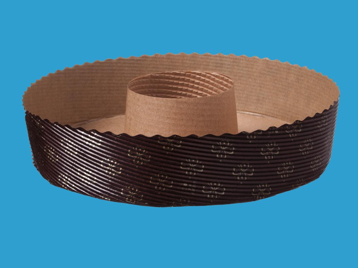 Einwegbackformen Papier Kranz 185mm rund 40mm hoch 540St