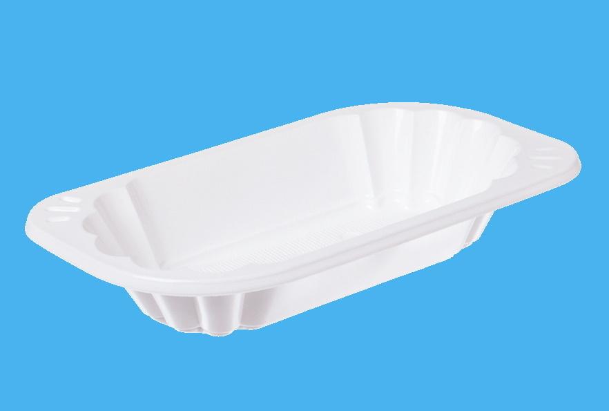 Imbissschalen oval 300ml 177x96x39mm weiß PP recycelbar 2.000St