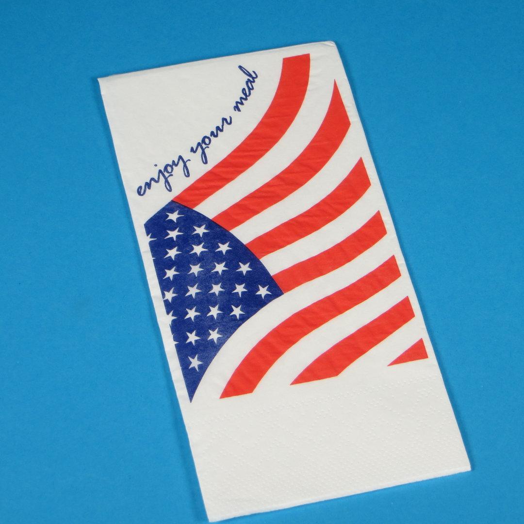 """Tissue Serviette """"USA"""" 40x40cm 2lg 1/8 1500St"""