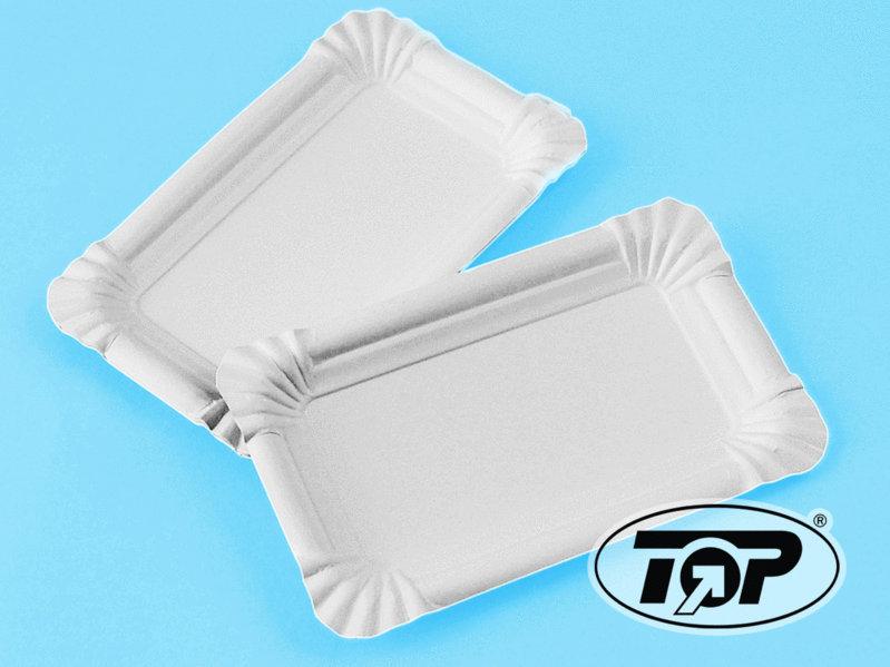 Frischfaser Pappteller 17x24cm weiß 1000St