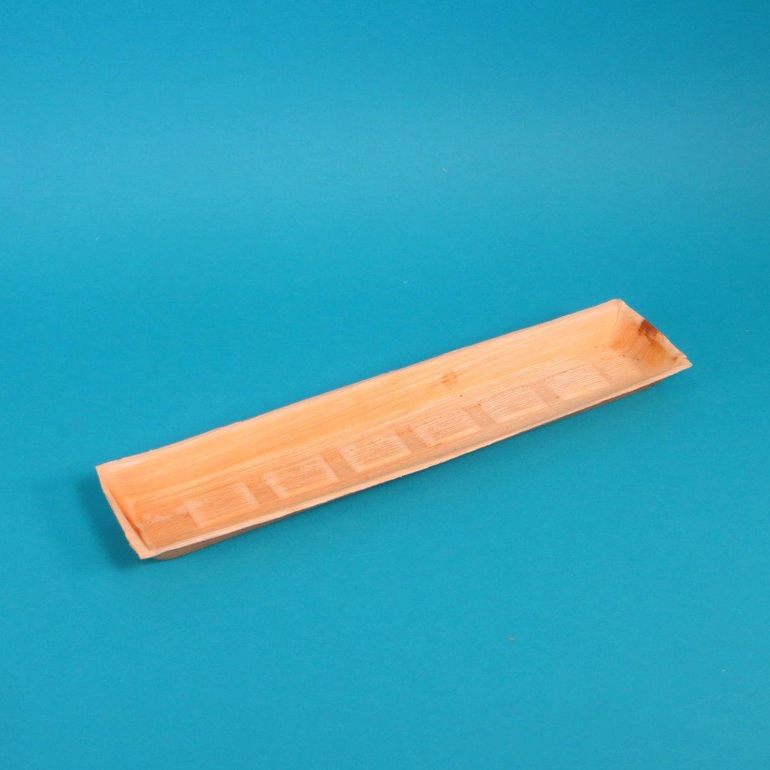 Bio Palmblatt Schale lang 41x8,5x2,8cm 100St