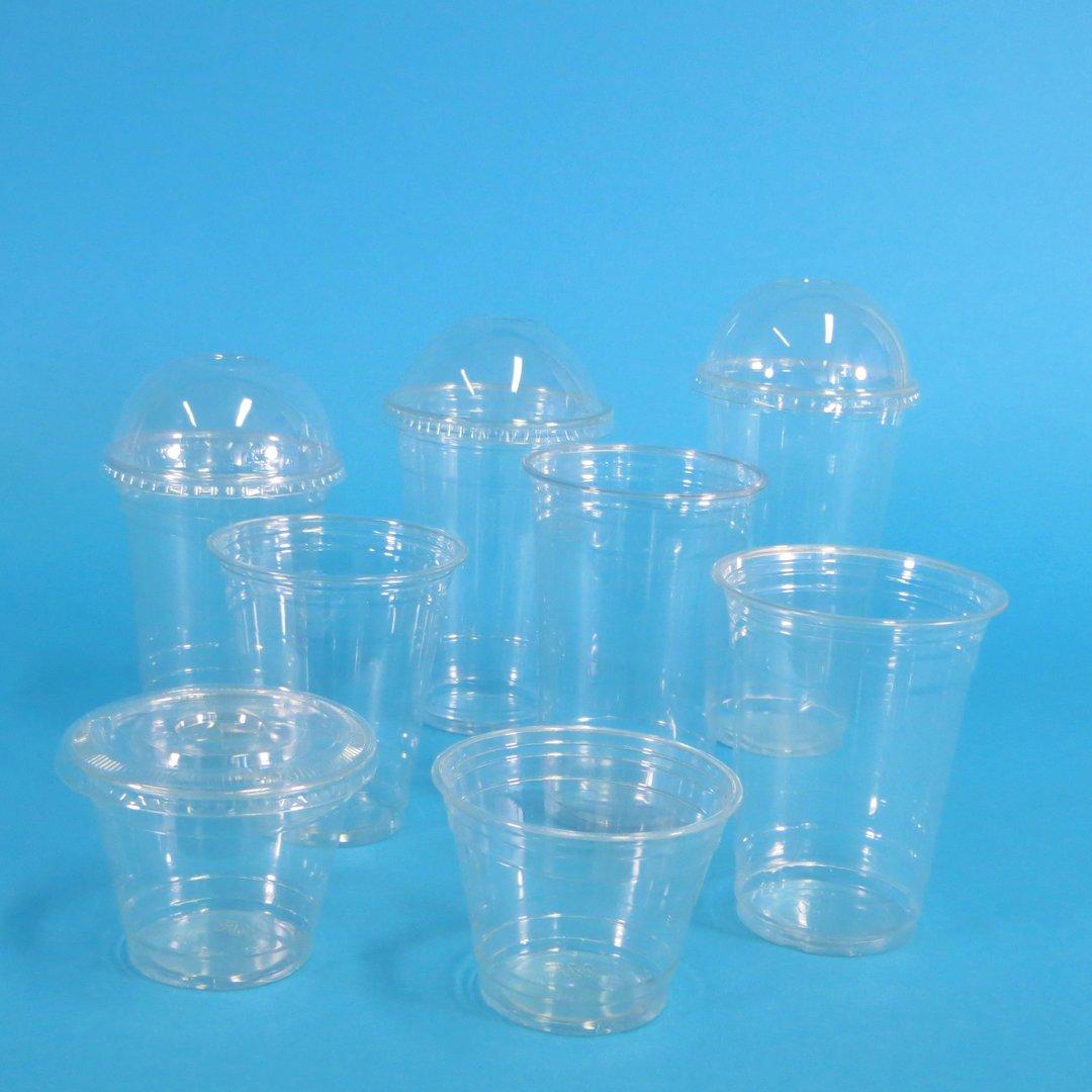 """Clear Cups """"Gourmet"""" Premium PET 5oz bis 20oz m. Eichstr. 1000St"""