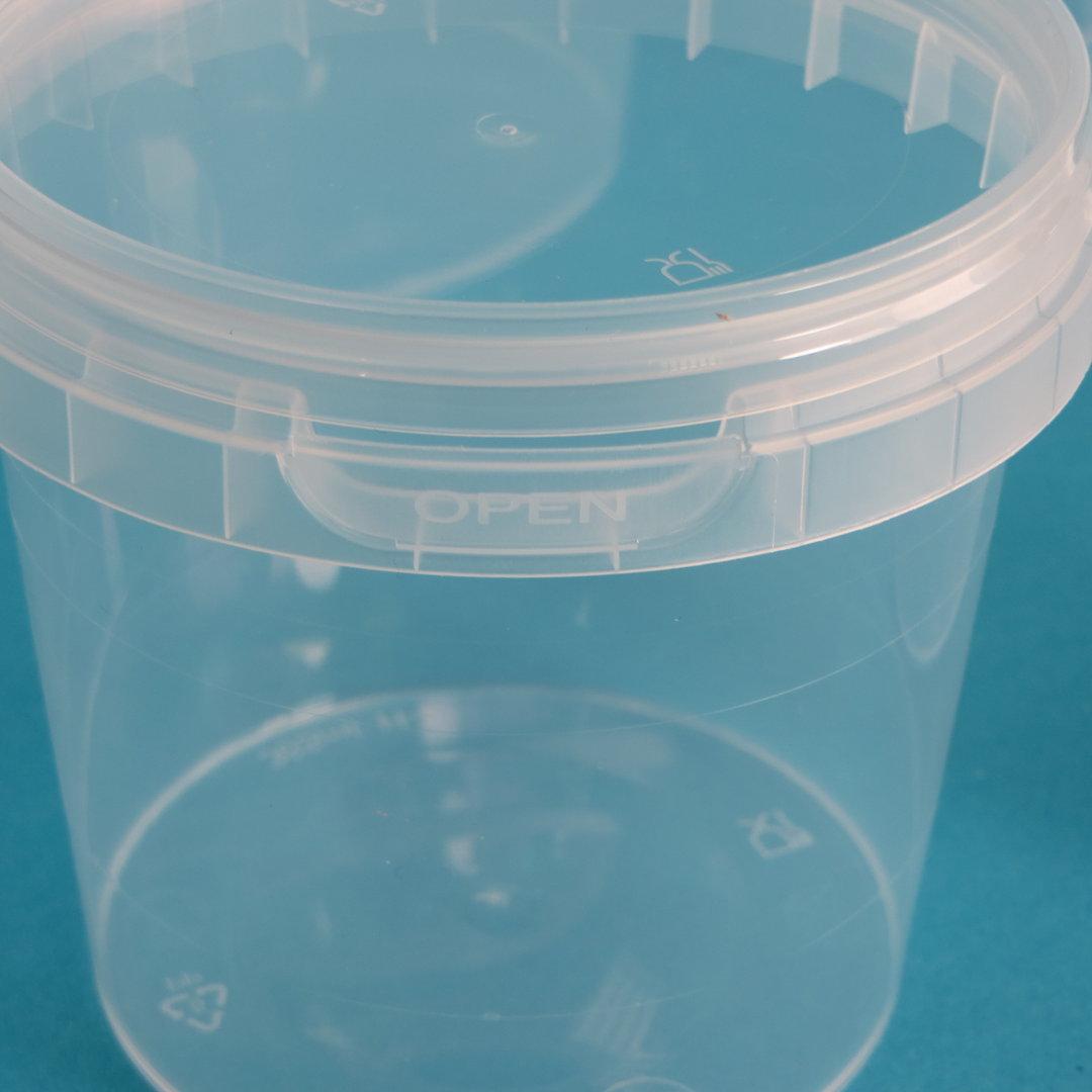Verpackungsbecher m. Henkel rund Originalitätsverschluss 1060ml 192St