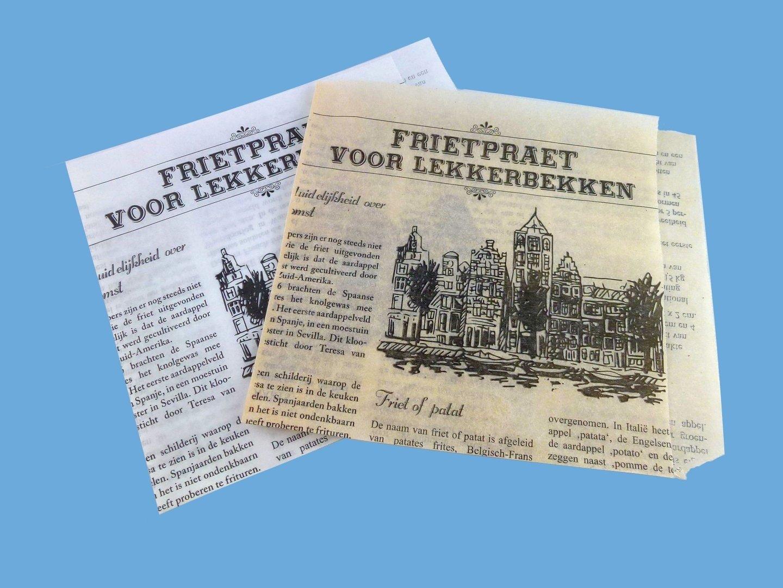 Snacktaschen Perga 15x16cm Zeitung 1000St braun oder weiß