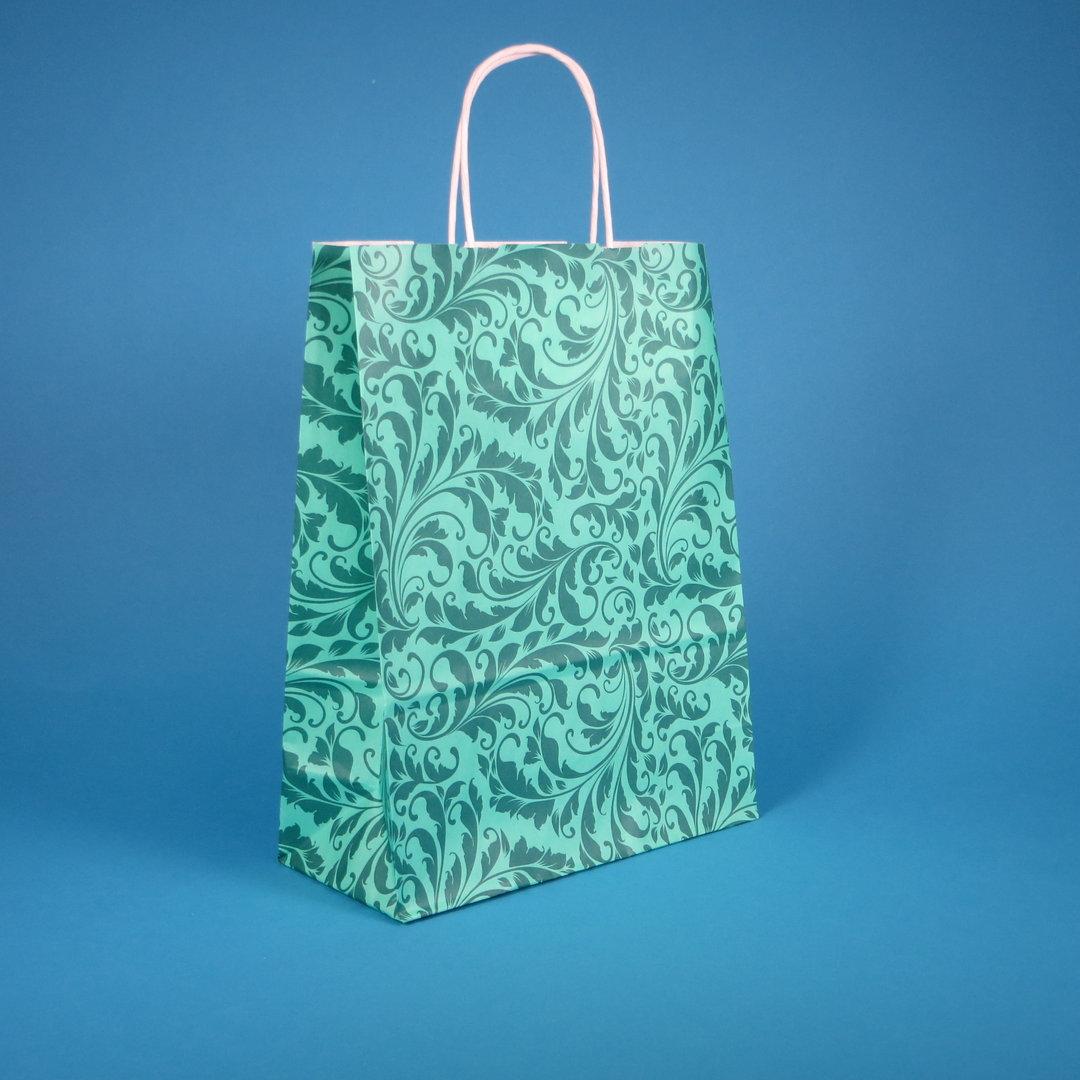 """Papiertragetaschen m. Kordel """"Elegant Jade"""" versch. Größen 250St"""