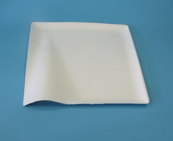 """Chinagras Teller """"Wave"""" eckig 20,5x20,5cm 500St"""