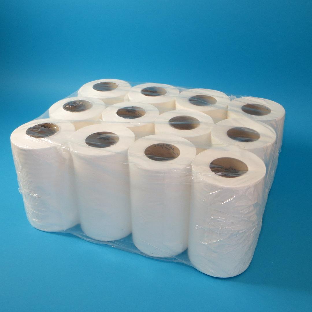 Papier Handtuchrollen Mini 20cm 120m weiß 12St.
