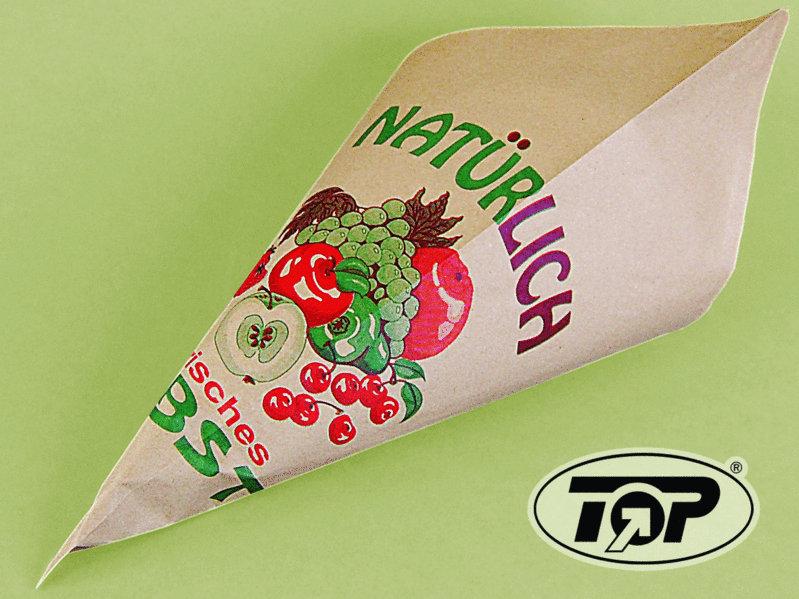 Obst Spitztüten braun für 1,5kg 38x38x53cm 1.000St.
