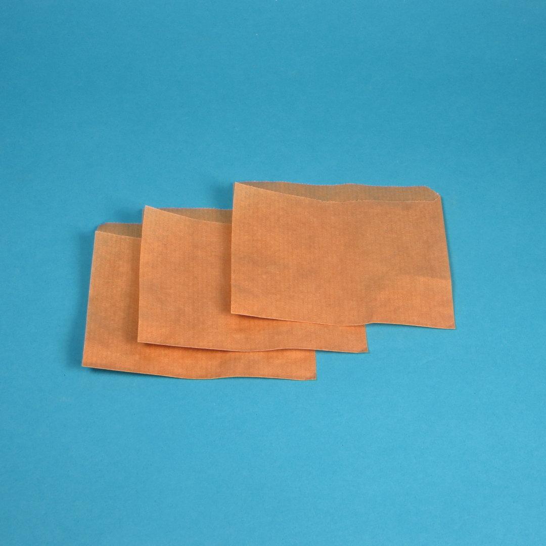 Mini Snacktaschen braun 11x11cm 2-seitig offen 1000St