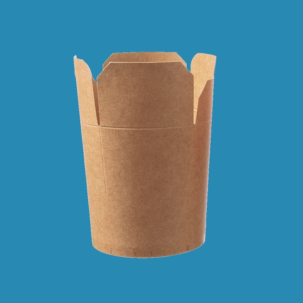 Snackbox Nudelbox Smart rund braun ohne Henkel versch. Größen