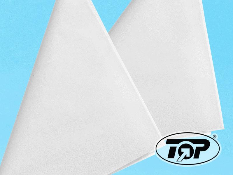 Zellstoff Servietten 2lg 33x33cm 1/4 Falz weiß 2.500St