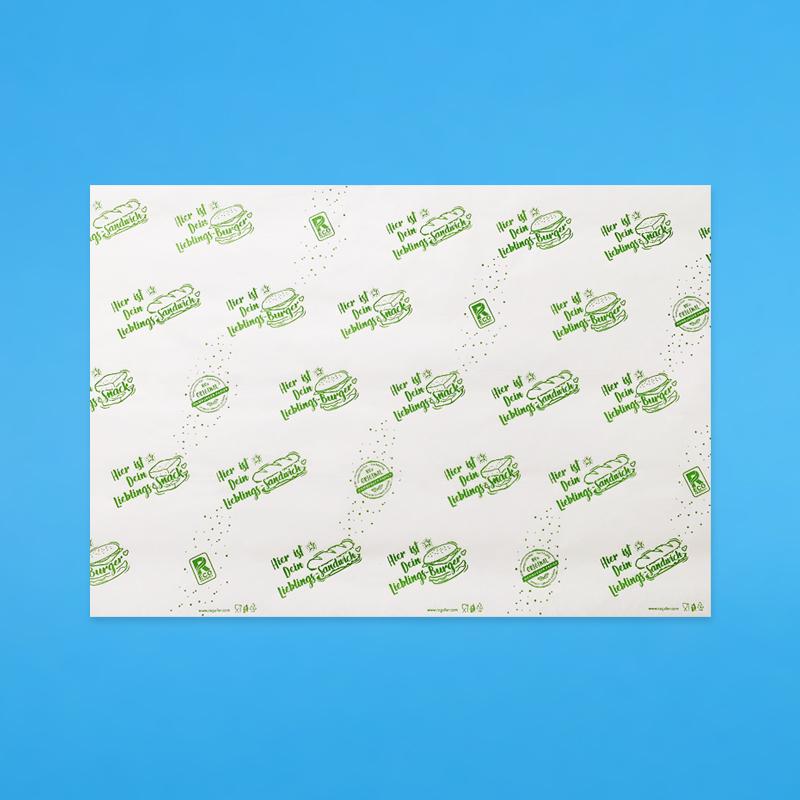 Bio Sandwich- & Hamburgerpapier grün 2000 Blatt versch. Größen