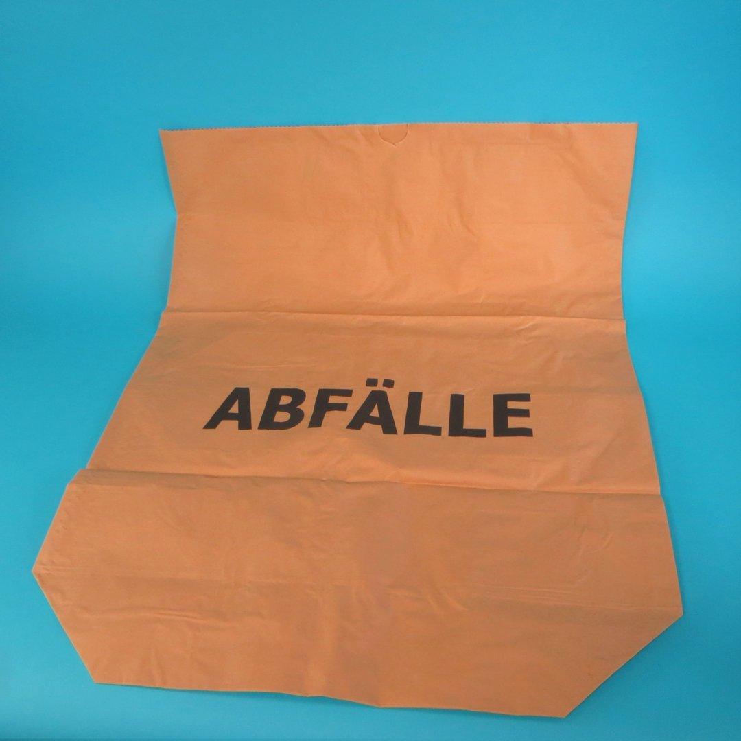 "Papier Müllsack braun ""Abfälle"" nassfest 120l 700x950mm 25St."