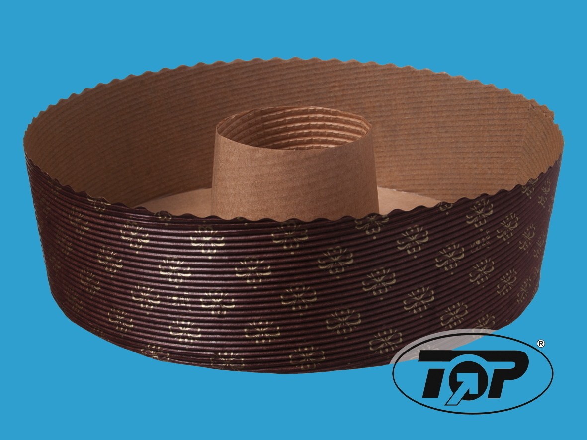 Einwegbackformen Papier Kranz 200mm rund 60mm hoch 540St