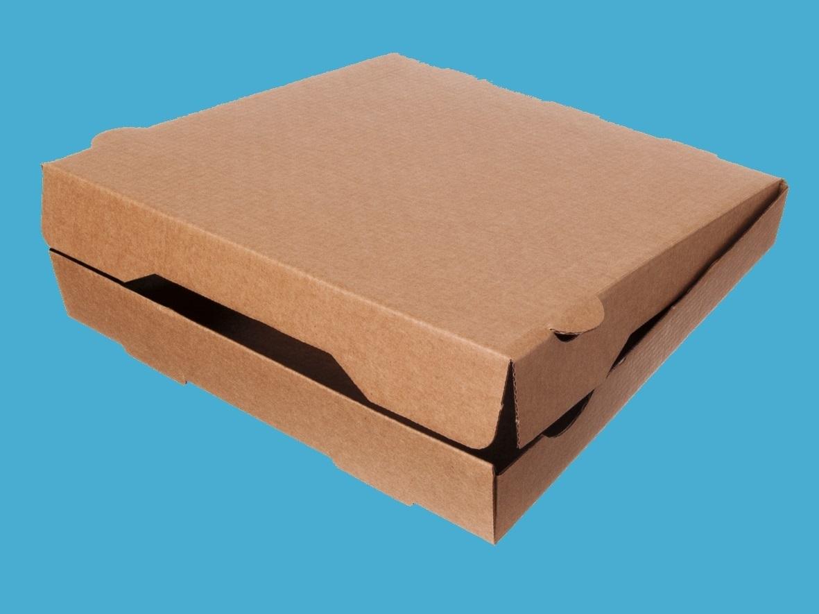 Pizzakartons braun ohne Druck Kraftkarton 100St versch. Größen