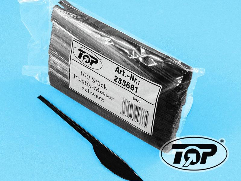 Einwegmesser Plastik schwarz 180mm 2.000St