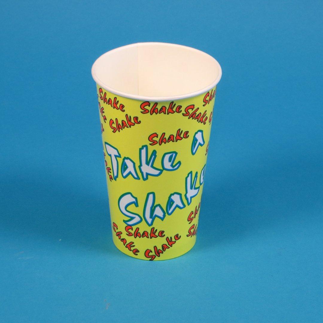 Shakebecher aus Pappe mit Neutraldruck 400ml 1000St.