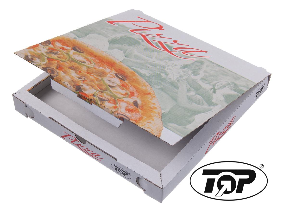 "Pizzakarton 3cm hoch Modell C Kraft ""Pizza Style"" versch. Größen"