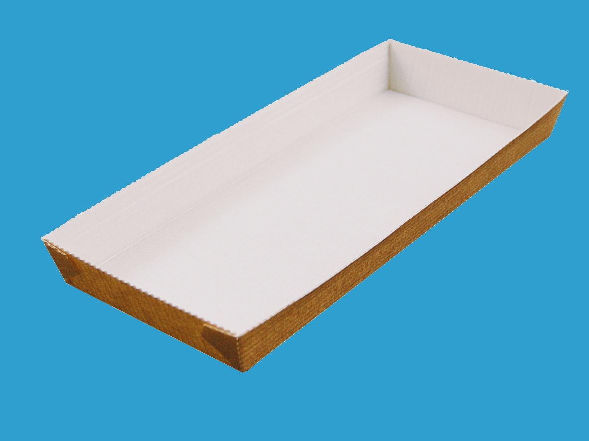 Einweg Backformen Papier eckig 98x236mm 25mm hoch 300St