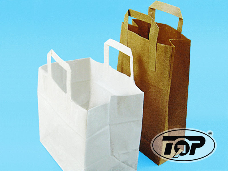 Papiertragetasche weiß 80g 26x17x25cm 250St.