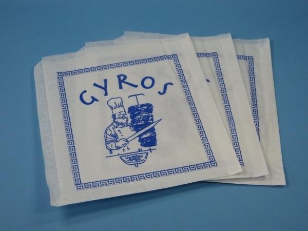 """Snacktasche """"Gyros"""" 16x16cm mit Neutraldruck 4.000St."""