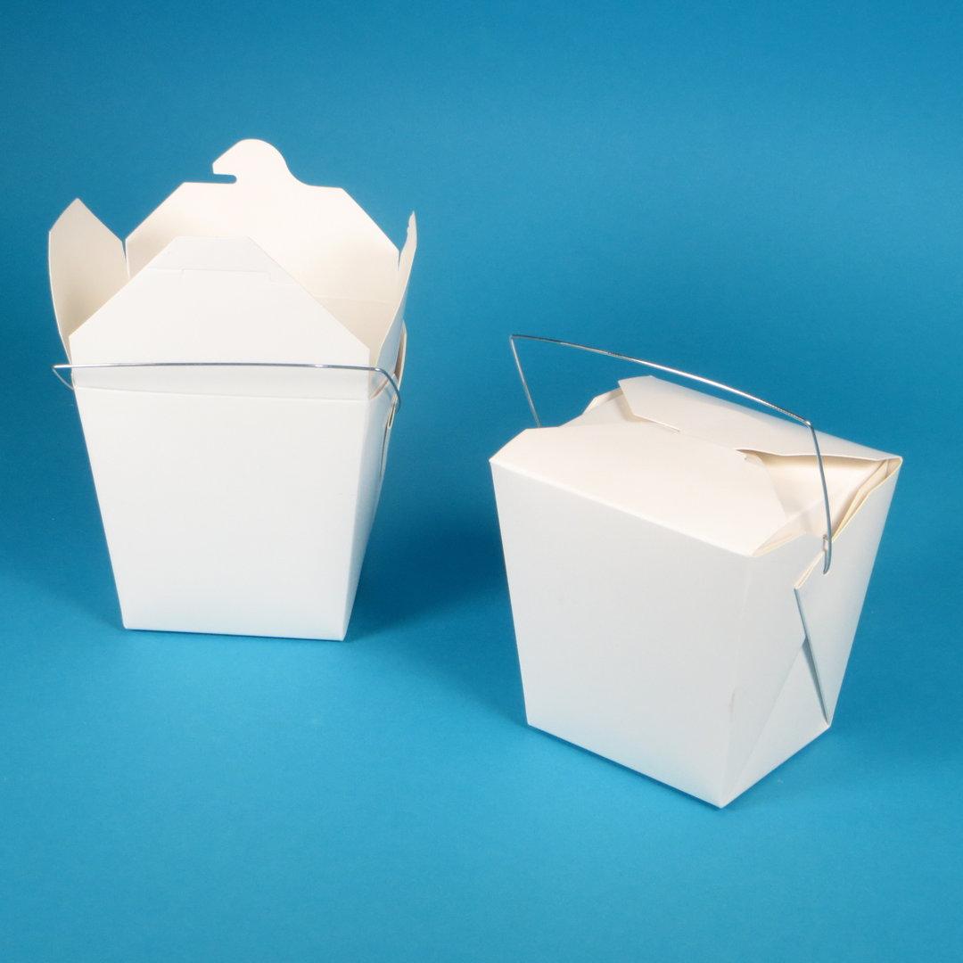 Foldpak Foodbox mit Henkel weiß 32oz 1000ml 500St