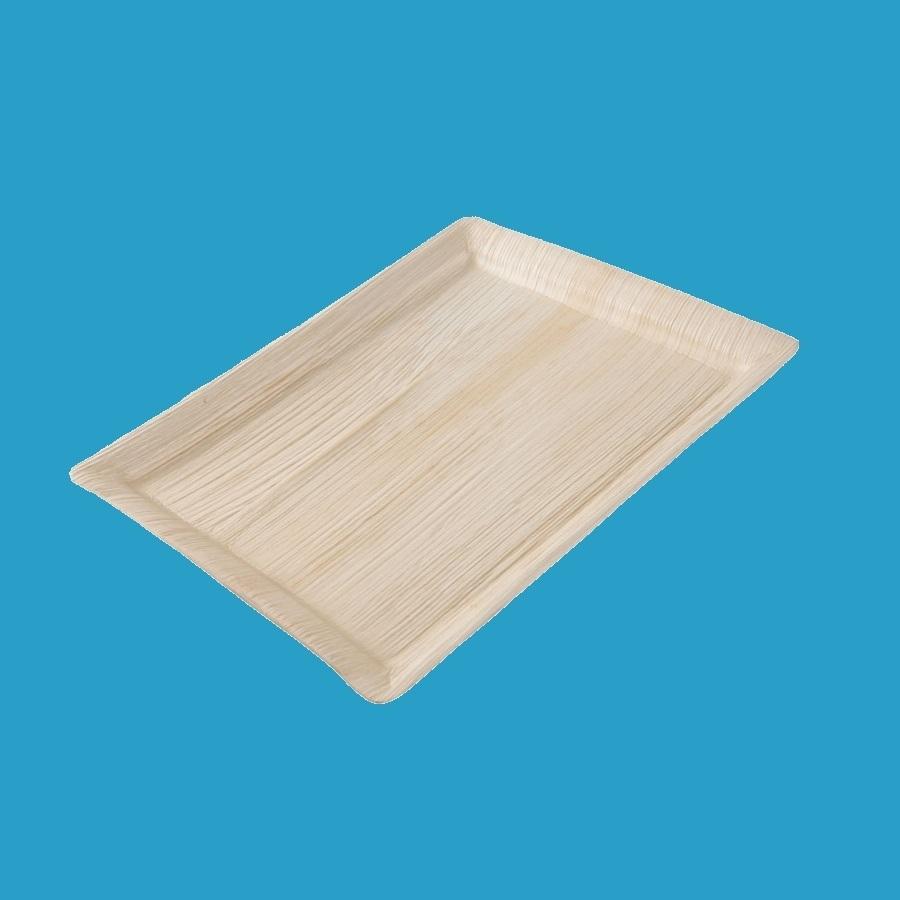 Bio Palmblatt Tablett eckig 32,5x27cm (Gastronorm) 100St