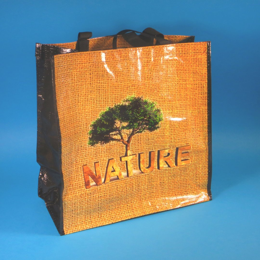 "PP Woven Tragetasche ""Nature"" 38x20x40cm 100St"