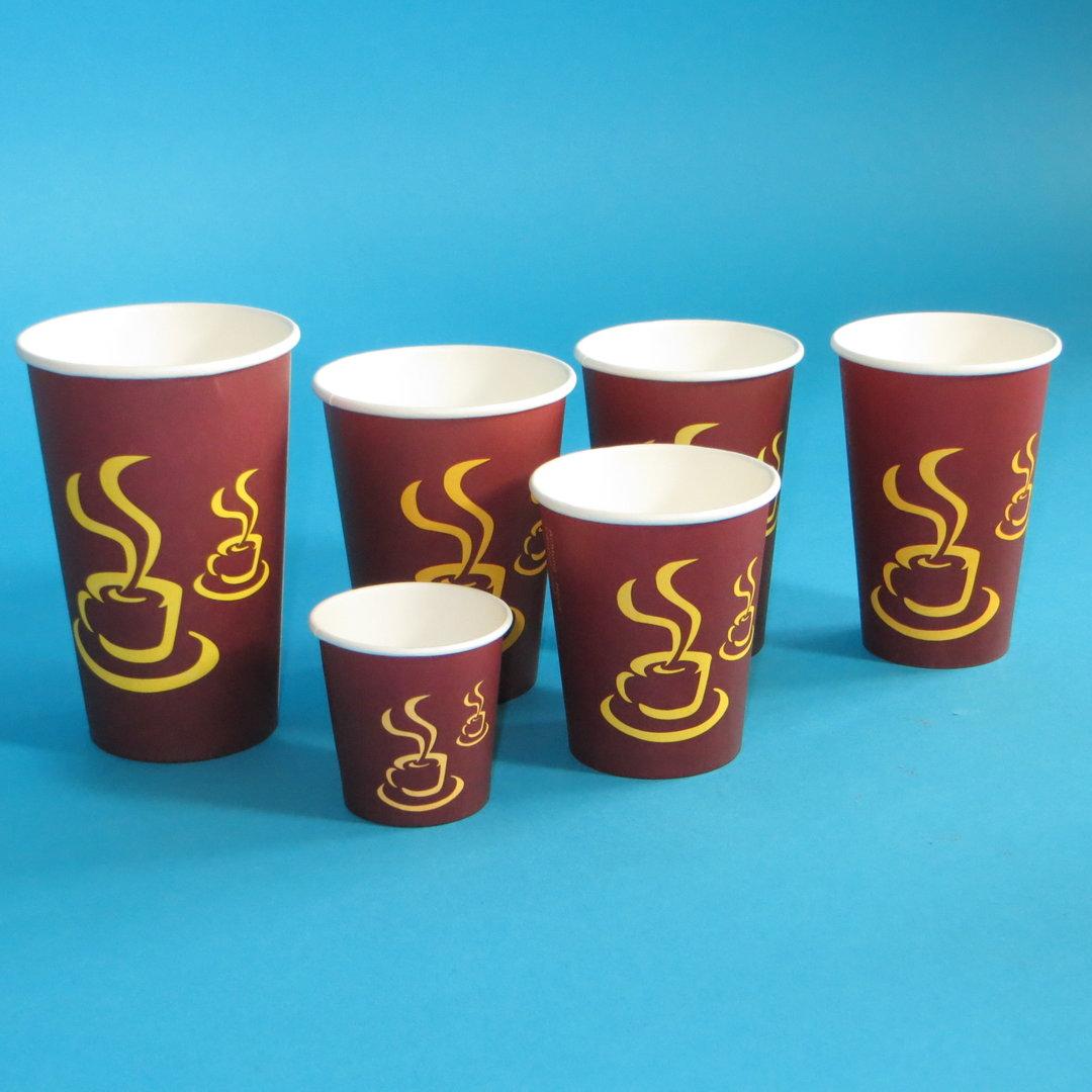 """Coffee to go Becher """"Hot Coffee"""" 1.000St. versch. Größen"""