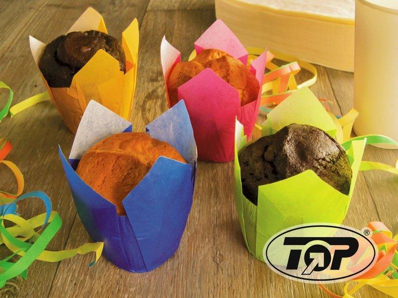 Muffin Tulip Gebäckkapseln grün 5cm 1200St.