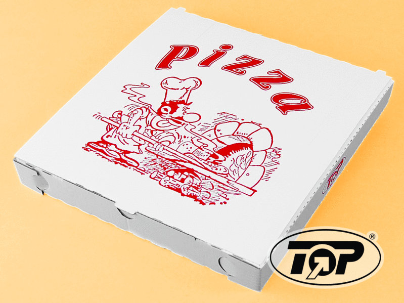 Pizzakarton 33x46x5cm Cubo Kraft 100St.