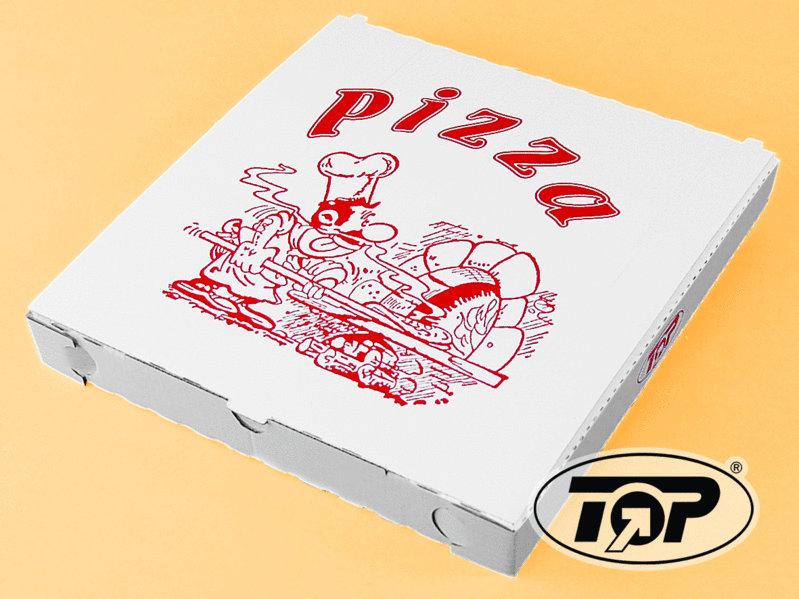 Pizzakarton 45x45x5cm Taglio Kraft 50St.