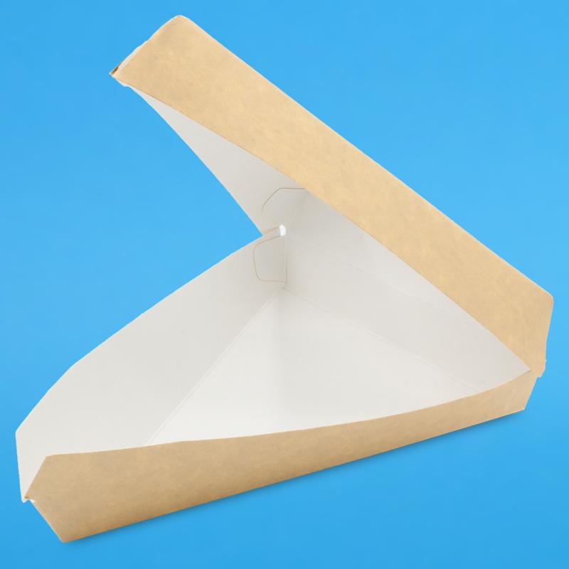 Pizza/Kuchen Slice Karton mit Sichtfenster 17x17x13cm 4,5cm hoch 300St